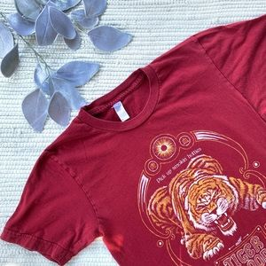 American apparel red tiger blood shirt A-034